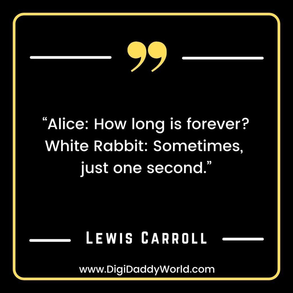 White Rabbit Alice in wonderland quotes images