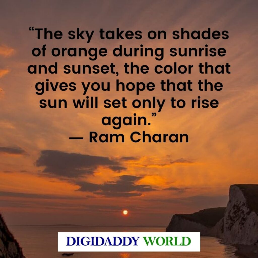 Famous Sunset Quotes And Sayings