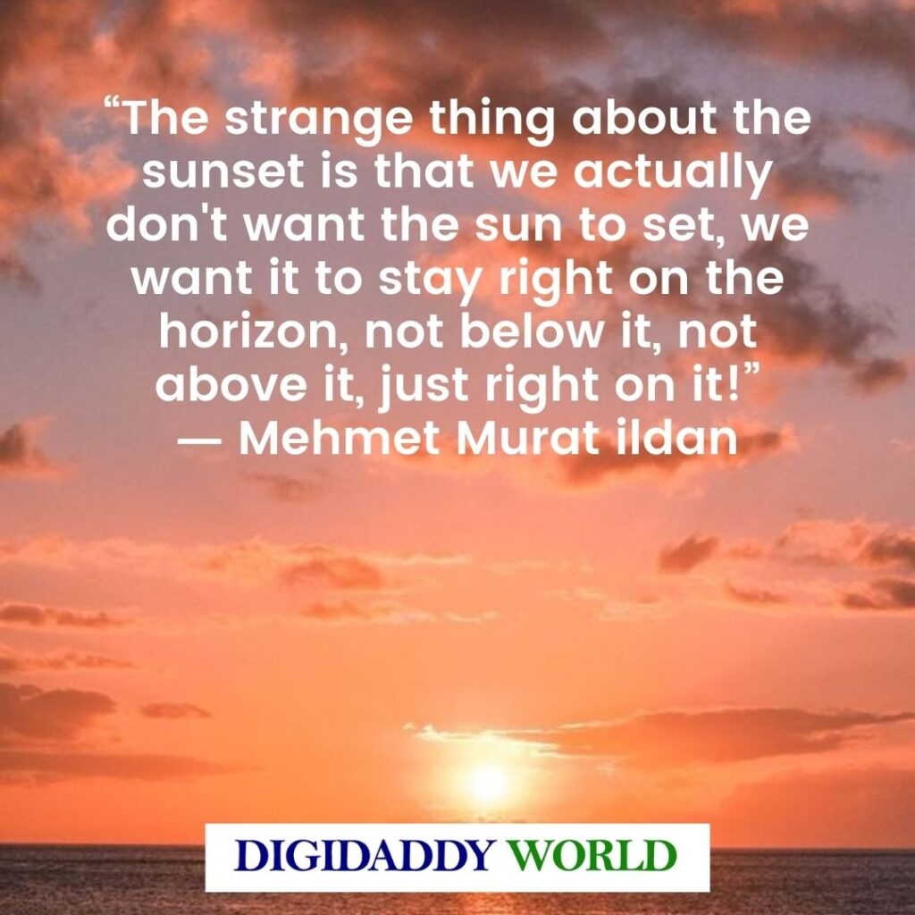 Best Sunset Love Quotes