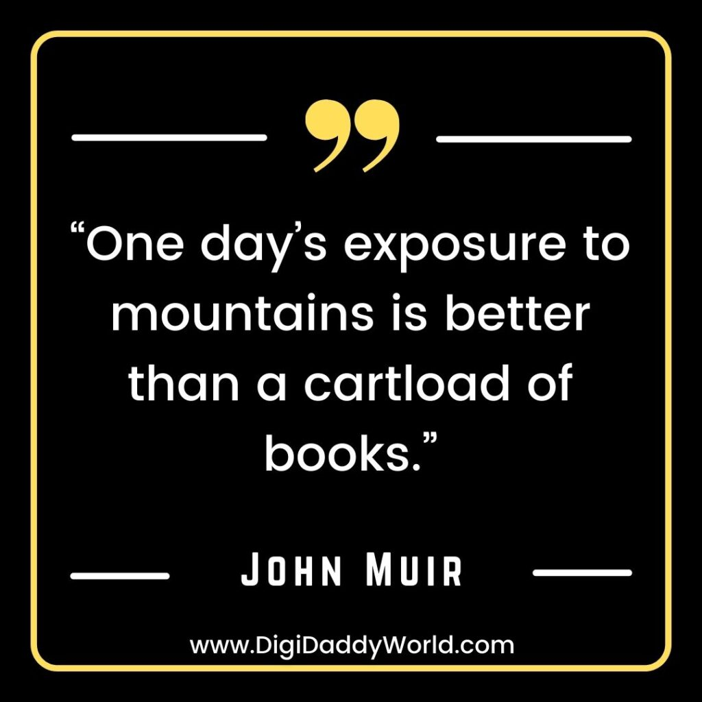 John Muir Quotes On Nature