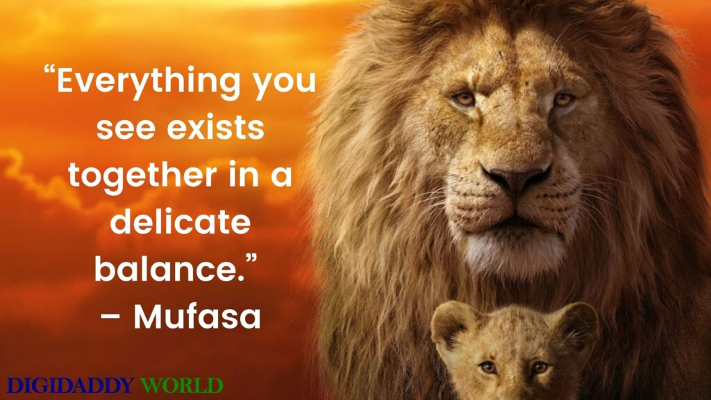 The Lion King Mufasa Quotes
