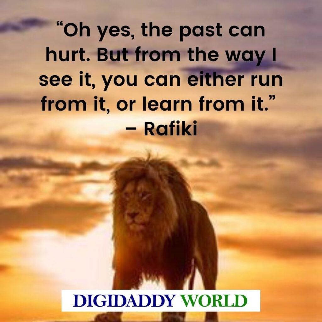 The Lion King Rafiki Quotes
