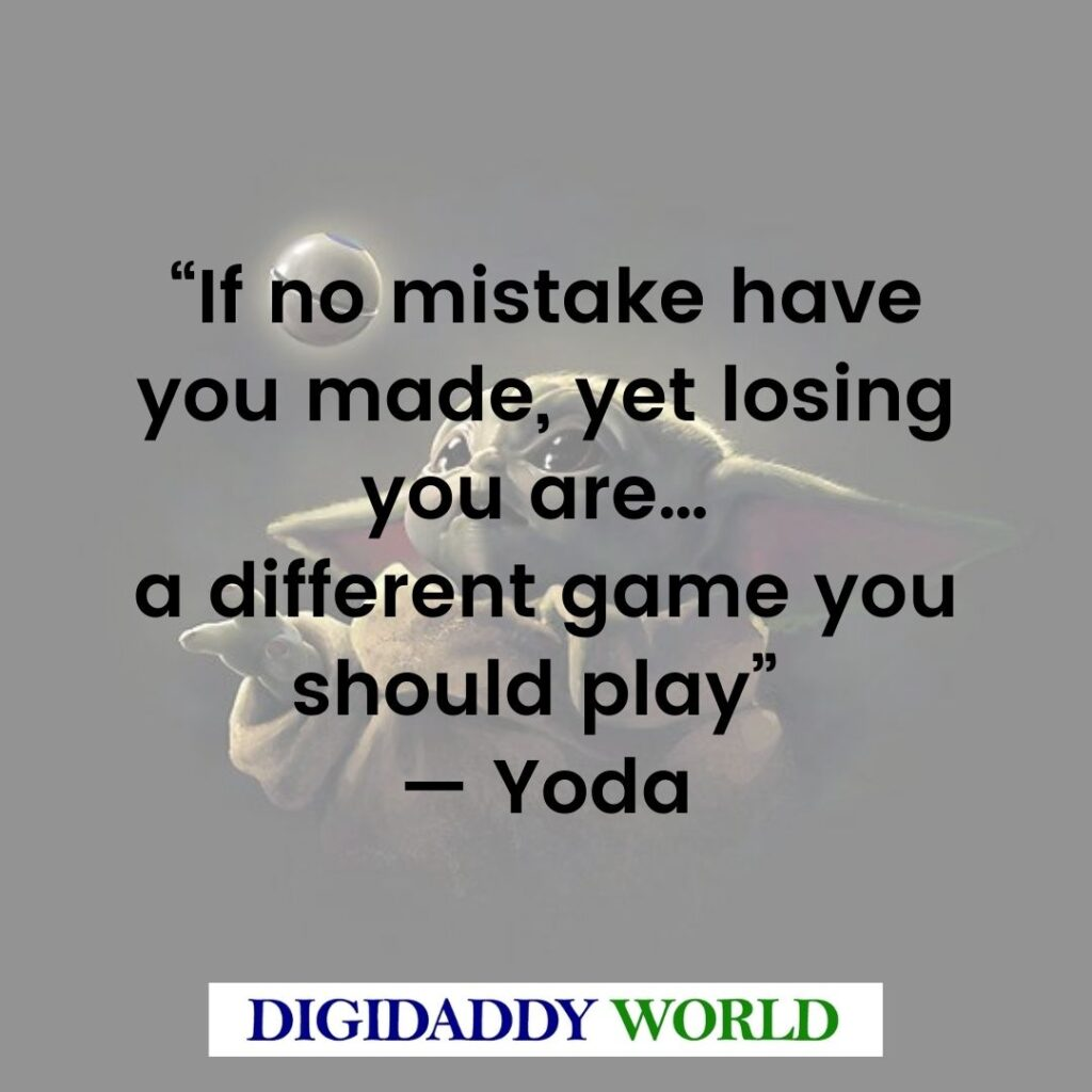 Master Yoda Best Quotes