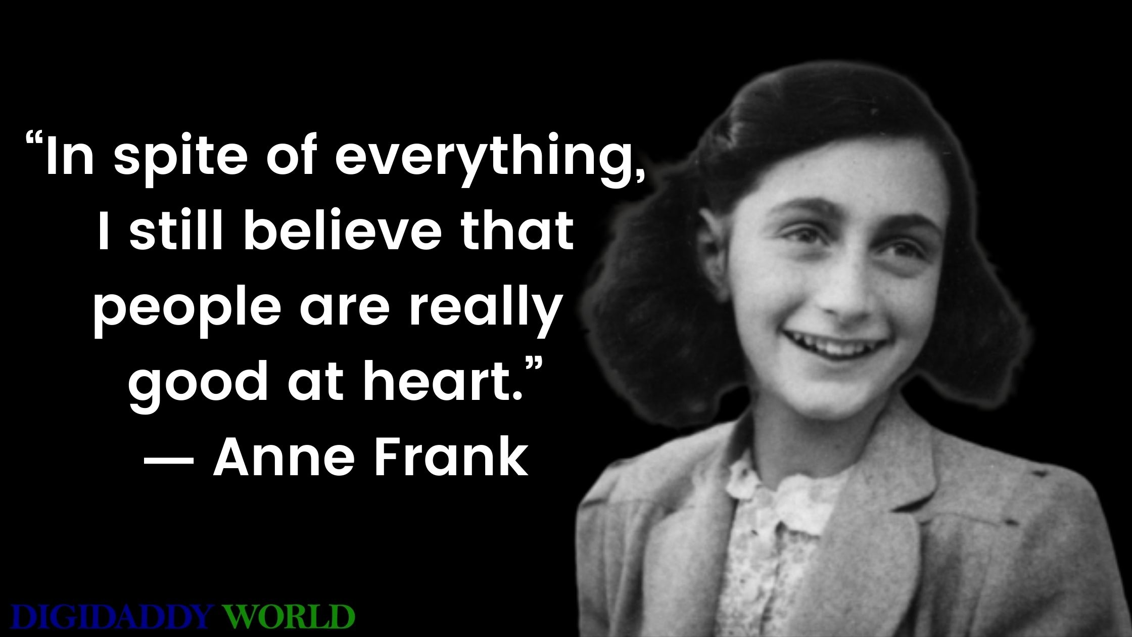 Anne Frank Quotes About Life