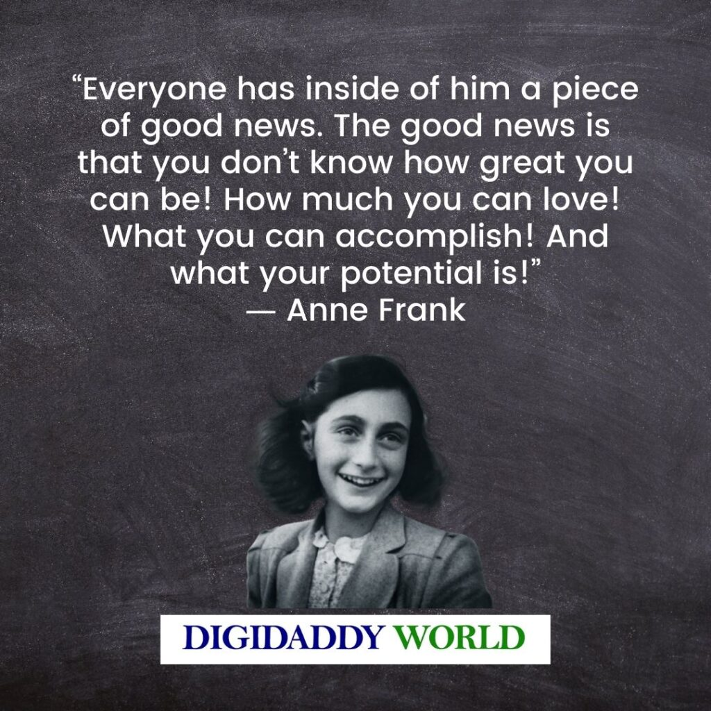 Anne Frank Quotes About Hiding