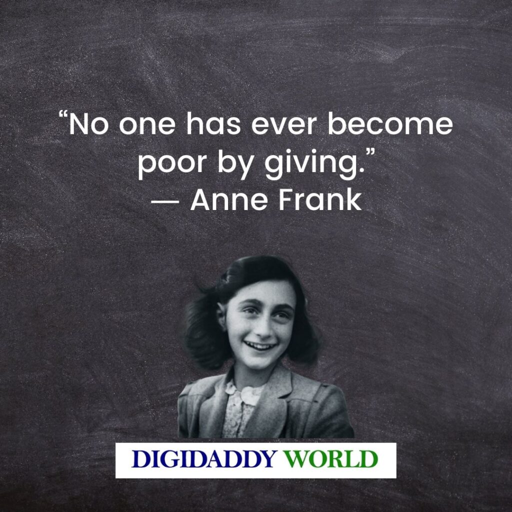 Anne Frank Quotes On People And Humanity